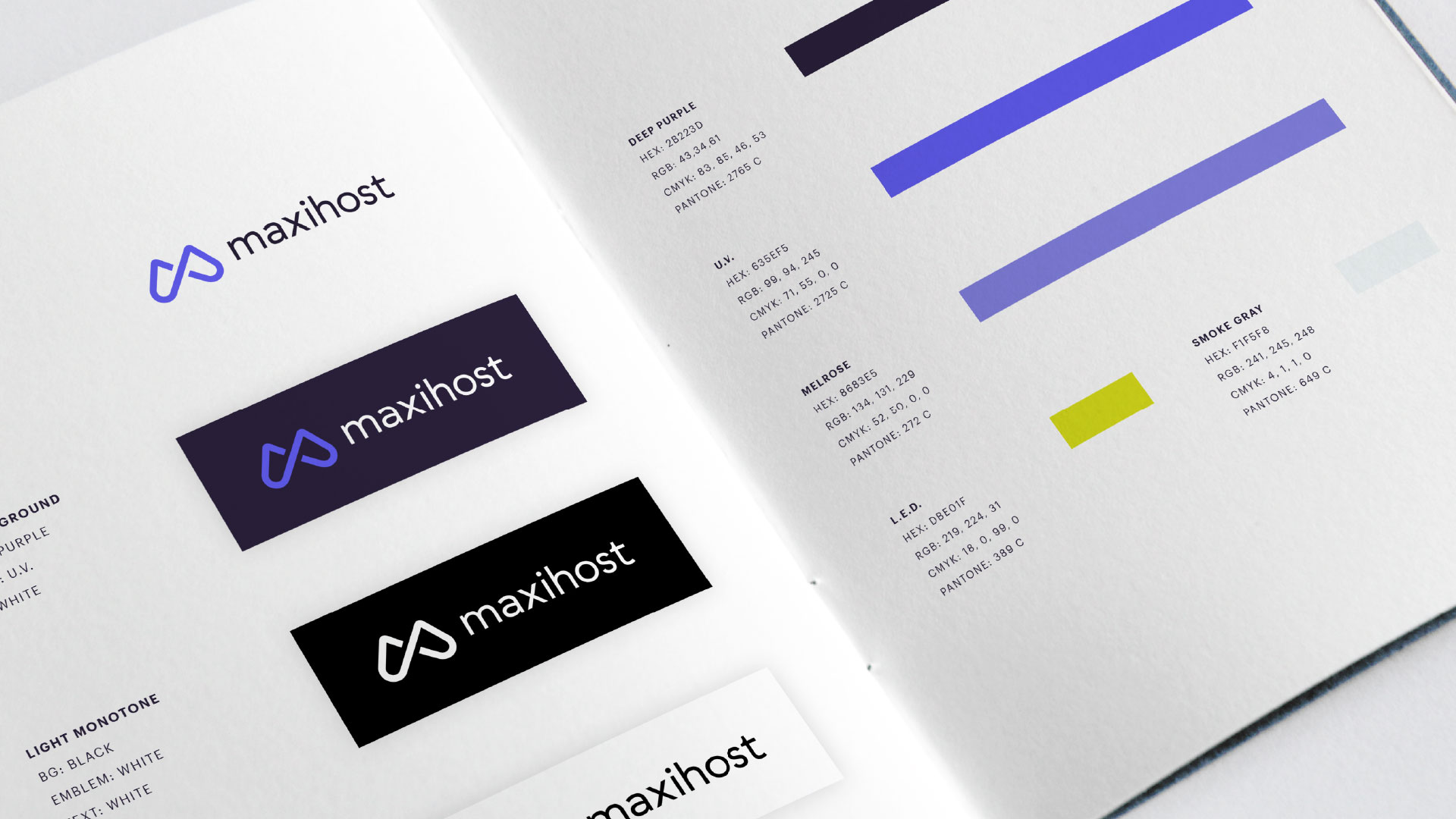 Maxihost branding and graphic design
